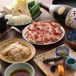 食感とコクが美味しい、近江黒鶏のすき焼き
