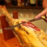 切り立ての美味しさ! 大人気イベリコベジョータの生ハム