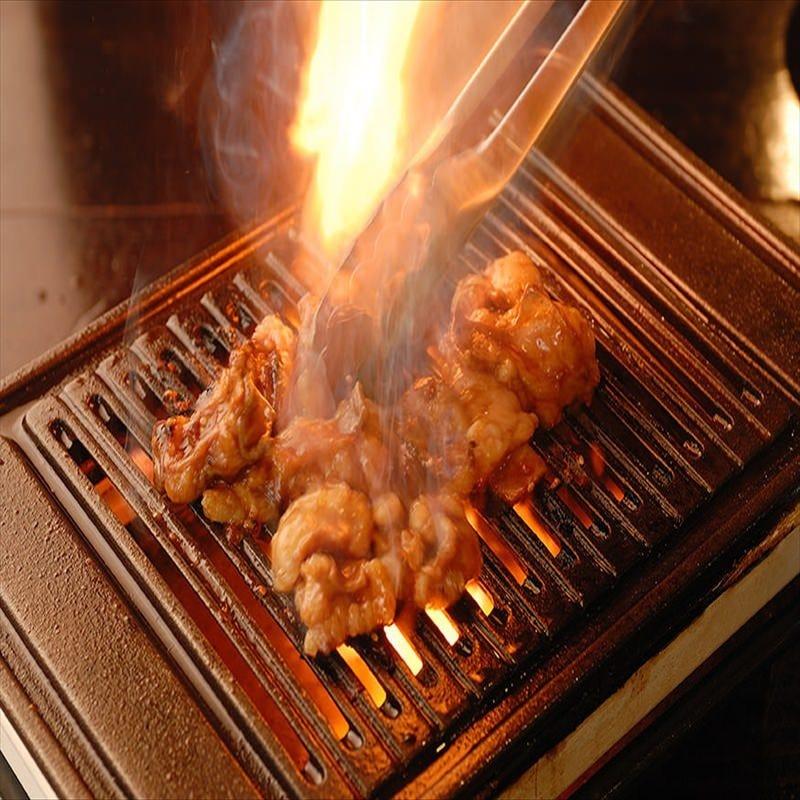 ロースターの直火で一気に焼くから香ばしくて美味しいんです☆