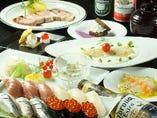 板前寿司Xフレンチ 120分飲放付(コロナビール、生ビール、スパークリング他)8000円→5000円5日前要予約