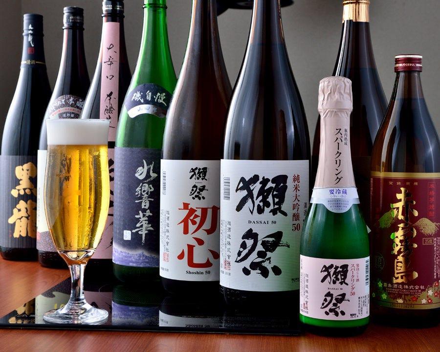 獺祭をはじめとした希少日本酒も