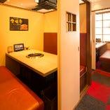 [2階]ファミリー客にも人気な半個室(2~8名様)を5部屋ご用意♪