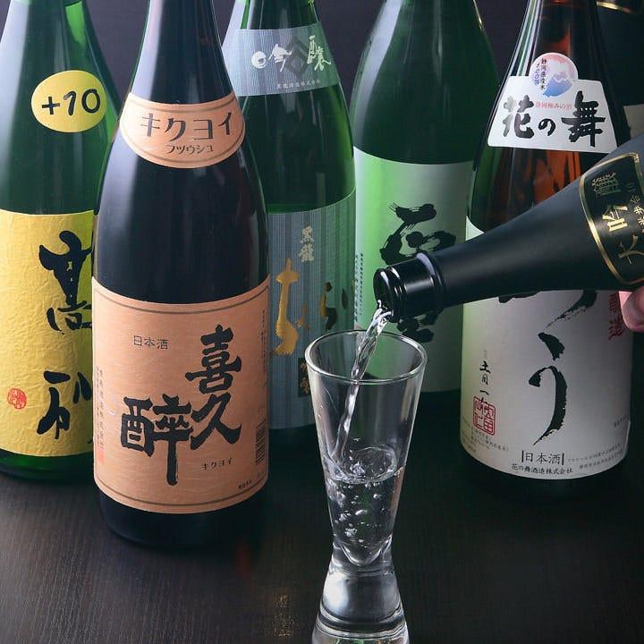 日本酒・焼酎は全国各地からの銘酒を厳選してお取り寄せしました