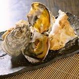 殻付き牡蠣の塩釜焼き