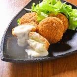 赤鶏のチーズメンチカツ