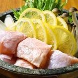 鶏レモン石鍋