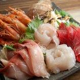 近海産の新鮮な魚介類!