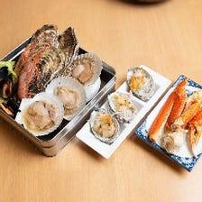 ≪贅を極める海鮮食べ放題≫かに/牡蠣/えび/帆立など10種浜焼き+居酒屋食べ放題コース