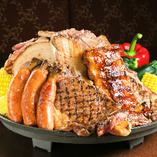 アメリカンBBQコースはステーキも食べ放題♪3,380円