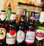 外国産ビールの単品販売もございます。180円~