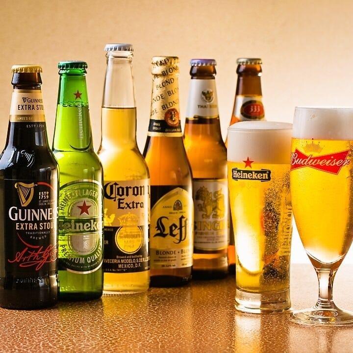 世界のビールを多数ご用意♪