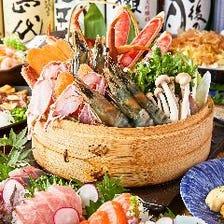 【輝】蟹と大海老のせいろ蒸しと和牛『あすかコース』3時間飲み放題+全9品 5000円⇒3800円