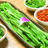 希少野菜、食べごたえがあって、シャキシャキ