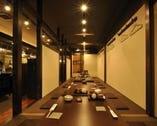 宴会最大30名様まで可能な完全個室の堀ごたつ席もございます。