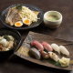 寿司、つけ麺などなどお食事メニューも充実
