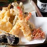 【厳選食材】旬菜鮮魚の天婦羅盛り合わせ【兵庫県】
