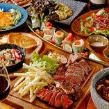 黒毛和牛のサーロインステーキも楽しめる「ちょっと贅沢コース」