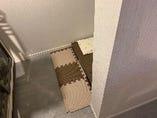 オムツ替えスペースの周り(イメージ用)壁で囲まれております。