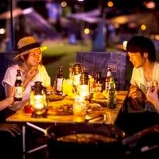 【BBQガーデンディナー】手ぶらでBBQ!ピクニックBOX&お肉や魚介フリードリンク付