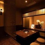 【1階完全個室/4名様用×2卓、6名様用×3卓】接待におすすめの隠れ家空間
