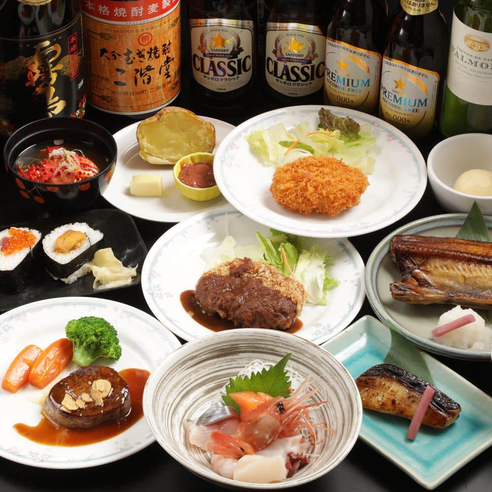 当店の人気料理が勢ぞろい!! 【味めぐりコース】6000円