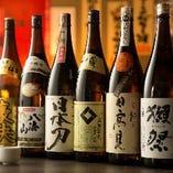 日本酒の種類もたくさんご用意しております