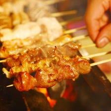 メディアで話題の湘南シャモの串焼き