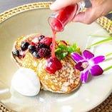 ハワイの定番パンケーキは米粉100%使用したモチモチ生地♪
