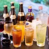 和食にあう様々なお飲み物・ノンアルコールドリンクなど多彩にご用意しています