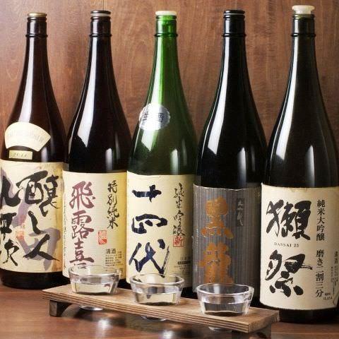 日本各地からの銘酒をラインナップ