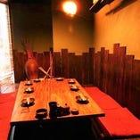 座敷は最大20名様までの完全個室です。4名様までの半個室も有。
