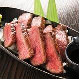 淡路島からの極上食材多数!椚座牛の赤身は激ウマ!