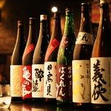 十種類以上の日本酒やこだわりの本格焼酎!!お酒を選ぶ楽しさも!