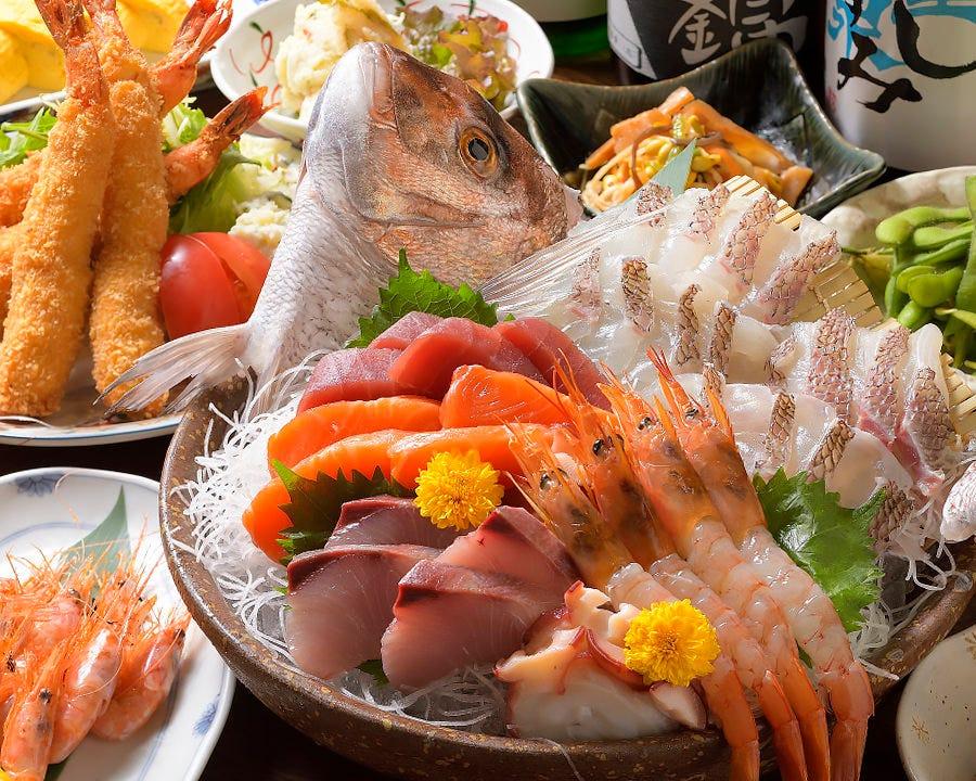 お祝い事に◎「鯛の姿造り付【絢爛コース】5000円」
