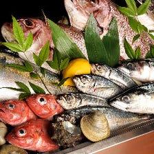 熟練の目利きで選ぶ新鮮な魚介が自慢
