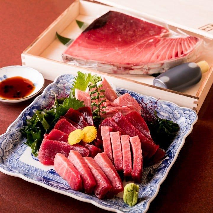 選び抜いた旬の鮮魚をふんだんに使用