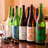 【こだわりの日本酒】 全国各地から美味しい地酒を取り揃え