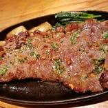 オージービーフのガーリックステーキ お肉が食べたい時に是非♪
