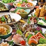 ご宴会コースは定番、名物料理、郷土料理と目的に合わせて。