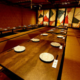 最大70名様収容な可能な掘りごたつ宴会場はこれからの忘年会に。