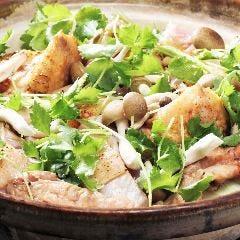 夕引き紀州地鶏の鶏塩ちゃんこ鍋