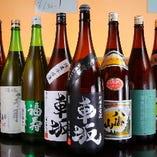 焼鳥に合うレアな日本酒も多数揃えております。