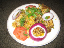 チキンビリヤニ(インド風炊き込みご飯) Chicken Biriyani -ヨーグルトソース付き-