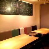 【テーブル席】2名~最大10名様のパーティも可能なお席です。