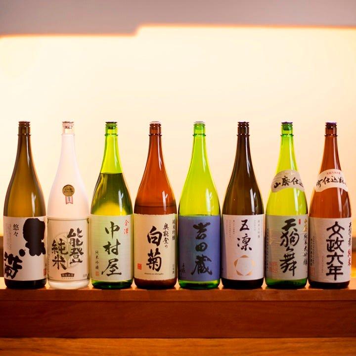 石川の純米吟醸を厳選して取り揃え