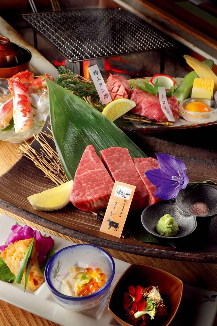 自家熟成をほどこした上質な仙台黒毛和牛をお楽しみください。
