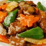 豚レバーと野菜炒め