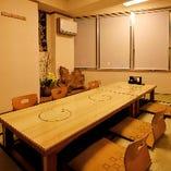 完全個室は3部屋ございます。