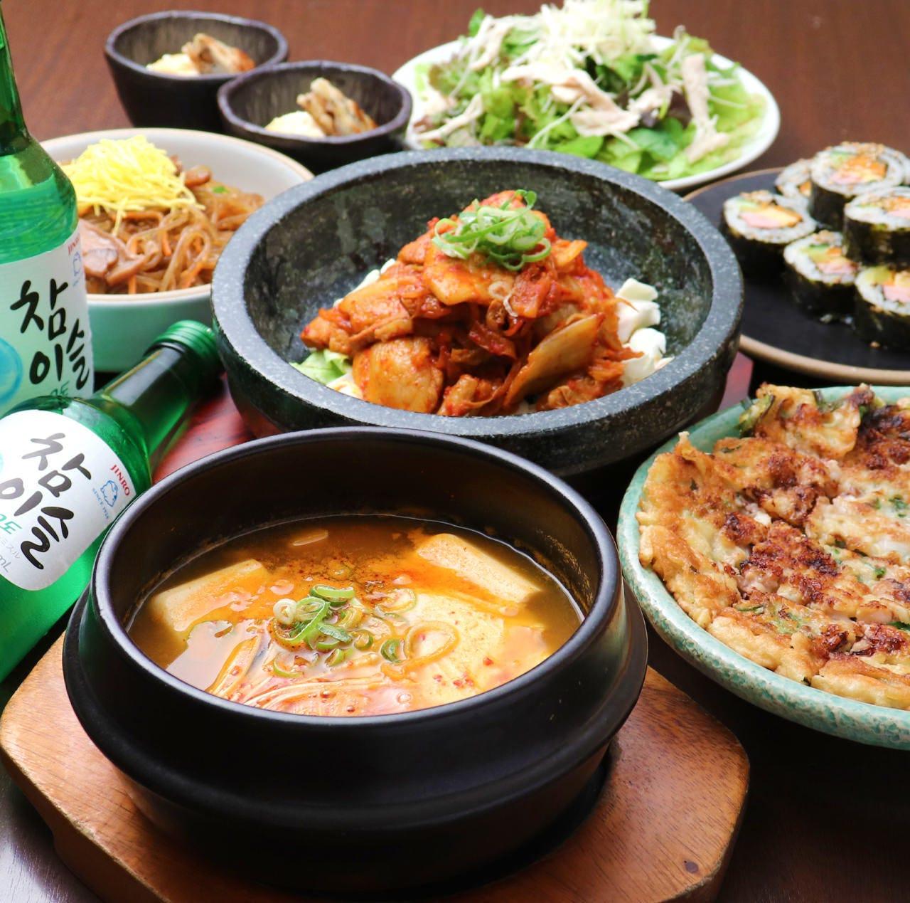 定番韓国料理を一度に楽しめるコースメニュー登場♪