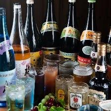 日本酒や焼酎など豊富なドリンク